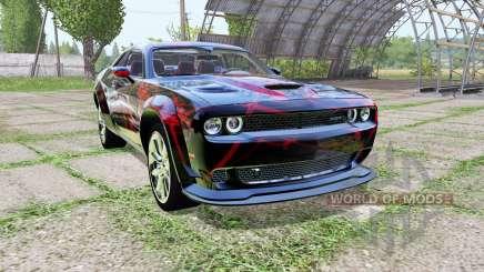 Dodge Challenger SRT Hellcat (LC) Red Neon para Farming Simulator 2017