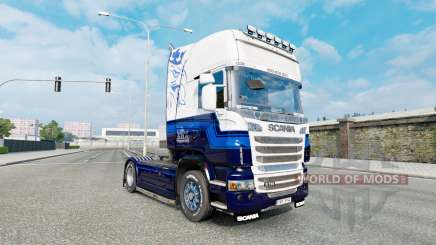El Azul de la piel V8 camión Scania R-series para Euro Truck Simulator 2