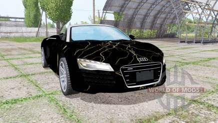 Audi R8 V10 Spyder 2012 Black Rift para Farming Simulator 2017