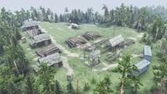 La aldea en la colina para Spin Tires