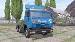 KAMAZ 54115 Gazprom Neft v1.2 para Farming Simulator 2017