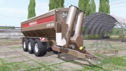 BERGMANN GTW 430 v1.0.0.2 para Farming Simulator 2017