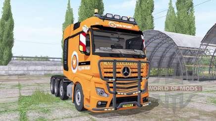 Mercedes-Benz Actros SLT (MP4) 2013 V.D.Vlist para Farming Simulator 2017