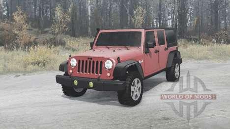 Jeep Wrangler Unlimited Rubicon (JK) 2006 para Spintires MudRunner