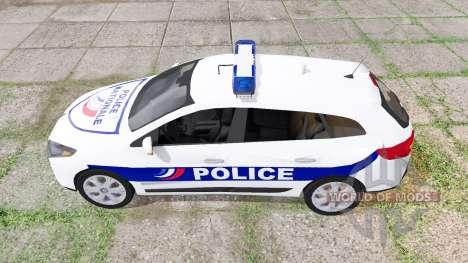 Renault Megane Estate 2009 Police Nationale para Farming Simulator 2017