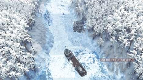 Invierno en el bosque para Spin Tires