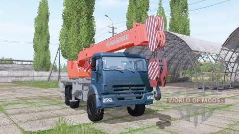 KAMAZ 65222 de 2009 de la grúa para Farming Simulator 2017