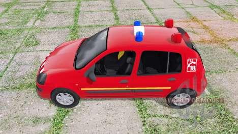 Renault Clio 2003 Pompier para Farming Simulator 2017