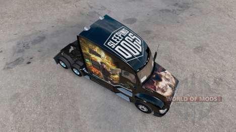 La piel de Perros para Dormir en el camión Kenwo para American Truck Simulator