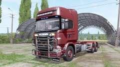 Scania R730 V8 Topline hooklift v1.0.4.4 para Farming Simulator 2017
