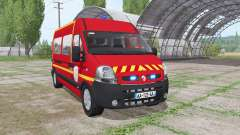 Renault Master 2003 Pompier para Farming Simulator 2017