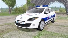Renault Megane Estate 2009 Police Nationale v2.0 para Farming Simulator 2017