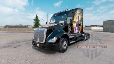 La piel de Perros para Dormir en el camión Kenworth T680 para American Truck Simulator