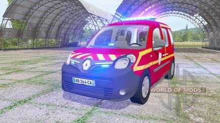 Renault Kangoo Extrem 2013 Sapeurs-Pompiers v1.1 para Farming Simulator 2017
