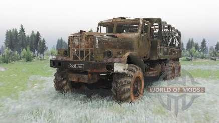 KrAZ-255B Último aliento para Spin Tires