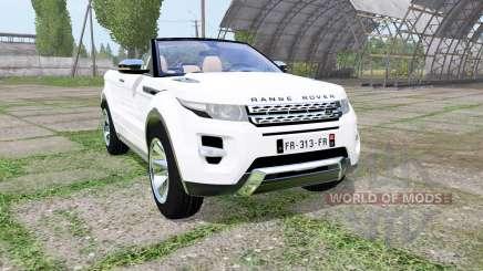 Land Rover Range Rover Evoque convertible 2016 para Farming Simulator 2017
