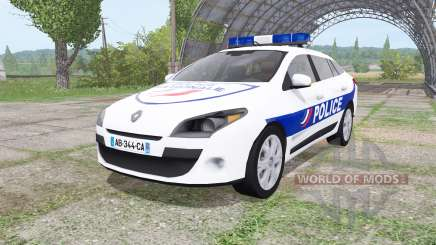 Renault Megane Estate 2009 Police Nationale v2.0 para Farming Simulator 2017