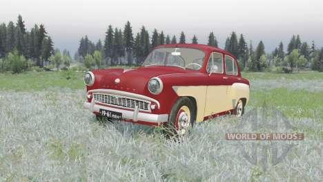 Moskvich 407 1958 para Spin Tires
