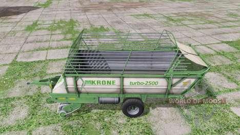 Krone Turbo 2500 v2.0 para Farming Simulator 2017
