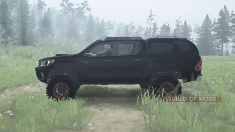 Toyota Hilux Double Cab 2016 para Spintires MudRunner