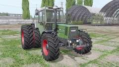 Fendt Favorit 615 LSA Turbomatik E dual rear para Farming Simulator 2017