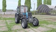 Belarús MTZ 1025 azul para Farming Simulator 2017