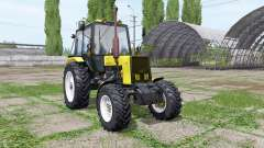 Belarús MTZ 1025 amarillo para Farming Simulator 2017