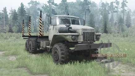 Ural 375Д alargada marco para MudRunner