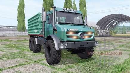 Mercedes-Benz Unimog U 5023 6x6 tipper v1.1 para Farming Simulator 2017