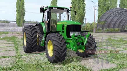John Deere 7430 Premium dual rear para Farming Simulator 2017