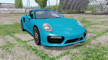 Porsche 911 Turbo S coupe (991) 2016 para Farming Simulator 2017