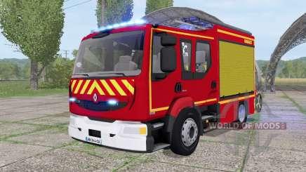 Renault Midlum Crew Cab 4x2 firetruck 2006 para Farming Simulator 2017