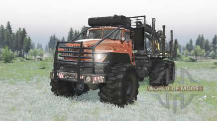 Ural Polyarnik 6x6 bastidor articulado para Spin Tires