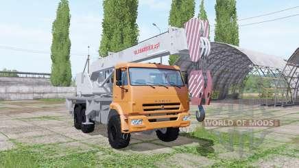 KAMAZ 65222 grúa Chelyabinets para Farming Simulator 2017