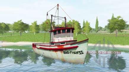 Buque de pesca v1.2 para Farming Simulator 2017