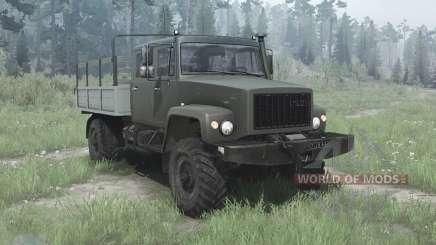 GAZ 33081 el Cazador-II para MudRunner