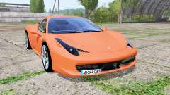 Ferrari 458 Italia multicolor v1.1 para Farming Simulator 2017