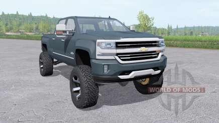Chevrolet Silverado 1500 High Country 2016 lift para Farming Simulator 2017