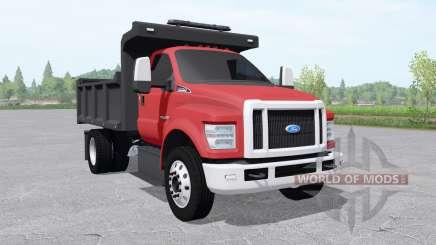Ford F-750 Super Duty Regular Cab tipper 2017 para Farming Simulator 2017