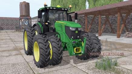 John Deere 6250R twin narrow wheels para Farming Simulator 2017