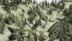 Barra curva en la carretera de montaña