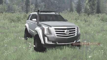 Cadillac Escalade (GMTK2XL) 2015 off-road para MudRunner