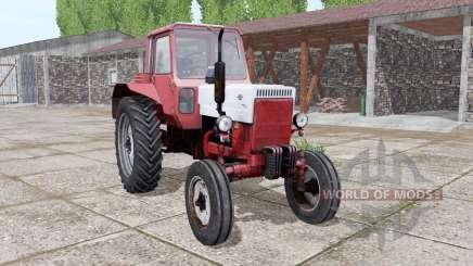 MTZ 80 Belarús rojo-blanco para Farming Simulator 2017